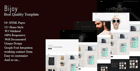 Bijoy - Minimal Portfolio Template - Creative Site Templates