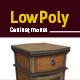 Lowpoly retro cabinet 3D model