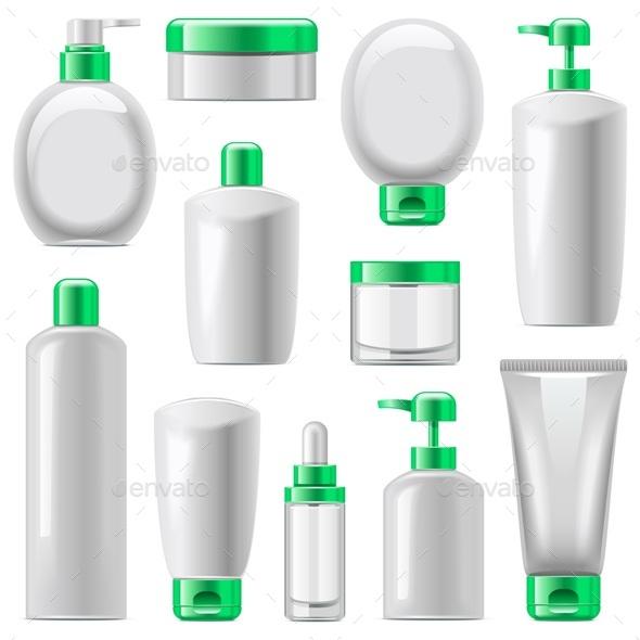 Vector Cosmetic Packaging Icons Set 13 - Health/Medicine Conceptual