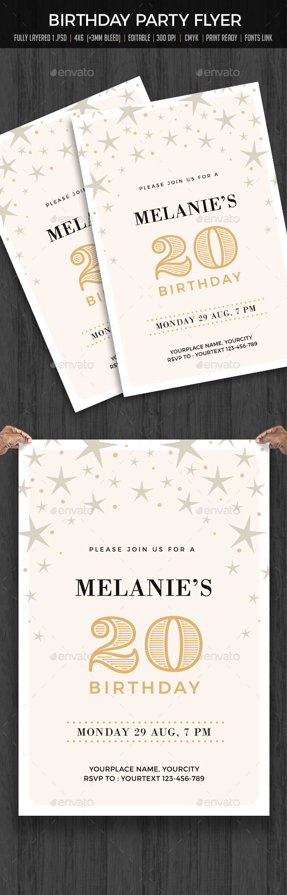 GraphicRiver Birthday Party Invitation 20234506