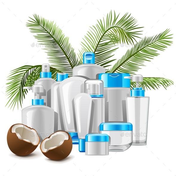 Vector Coconut Cosmetics - Health/Medicine Conceptual