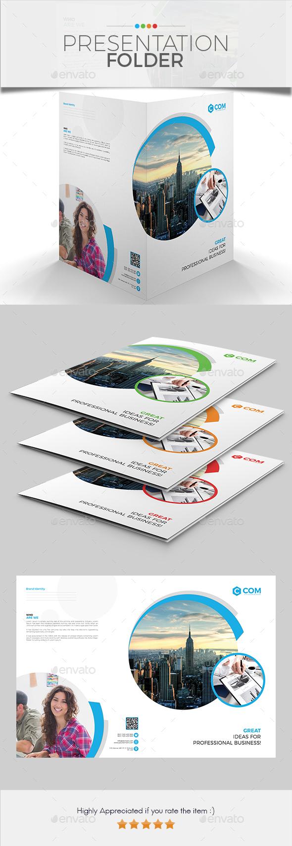 Presentation Folder 02 - Stationery Print Templates