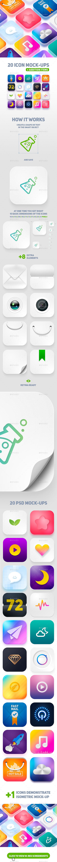 Icon App Maker - 20 PSD Mock-Ups (Part 2) - Product Mock-Ups Graphics