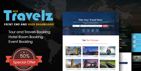 Travelz - Travel Agency/Tour and Travel Booking Online HTML Responsive Template