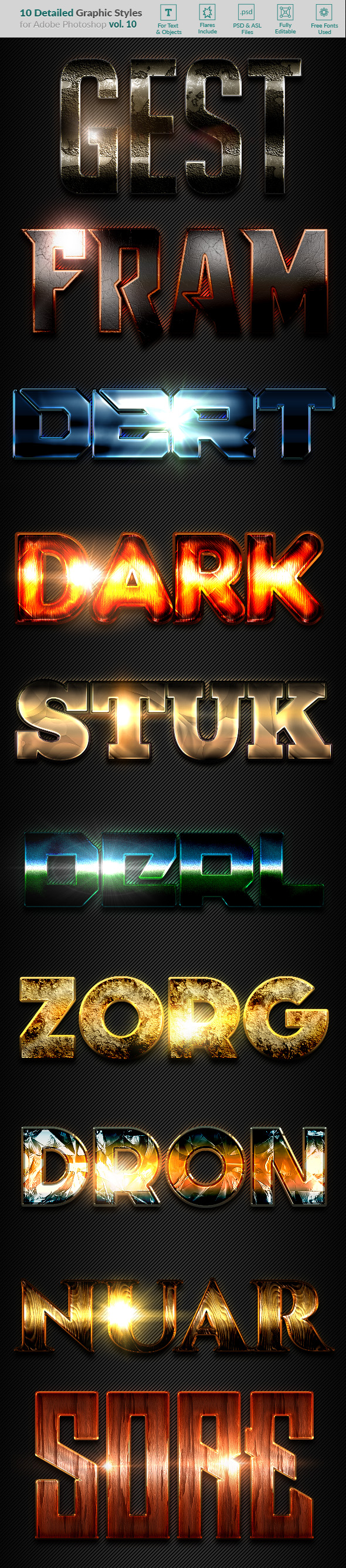 GraphicRiver 10 Text Effects Vol 10 20234653