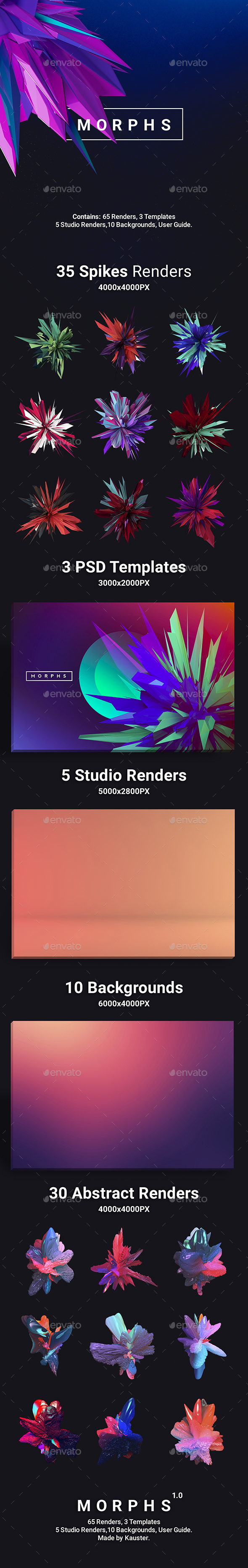 Morphs - Abstract Renders Toolkit - Miscellaneous Graphics