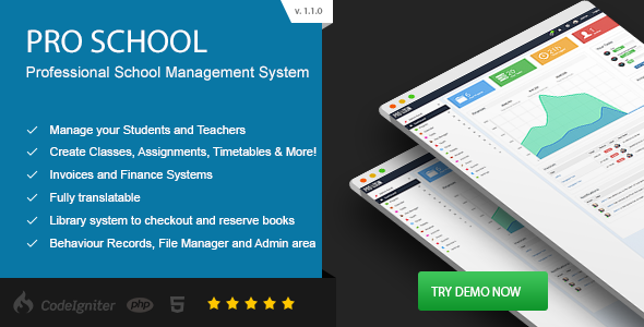 Pro School - PHP School Management System - CodeCanyon Item for Sale
