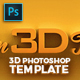3D Photoshop Template 3