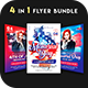 4 in 1 - 4th of July Flyer Bundle - GraphicRiver Item for Sale