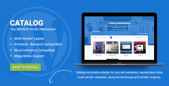 Catalog | Buy Sell / Marketplace Responsive WordPress Theme