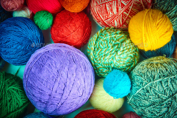 colorful wool yarn balls wool yarn ball  Colorful threads for ne