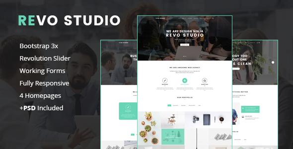 Revo Studio -  Multipurpose Landing Page