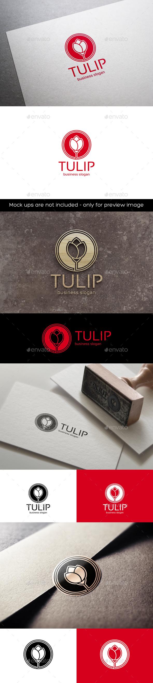 Tulip Flower Logo - Nature Logo Templates