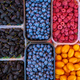 Baskets of berries in a market. mixed berries. bio colorful berr - PhotoDune Item for Sale