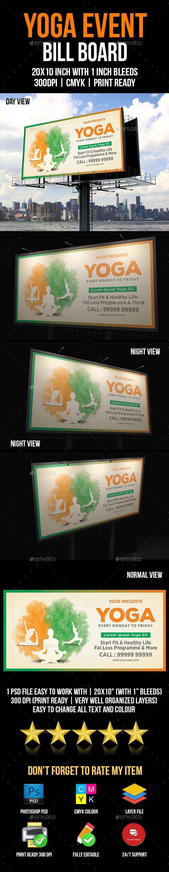Yoga Bill Board - Signage Print Templates