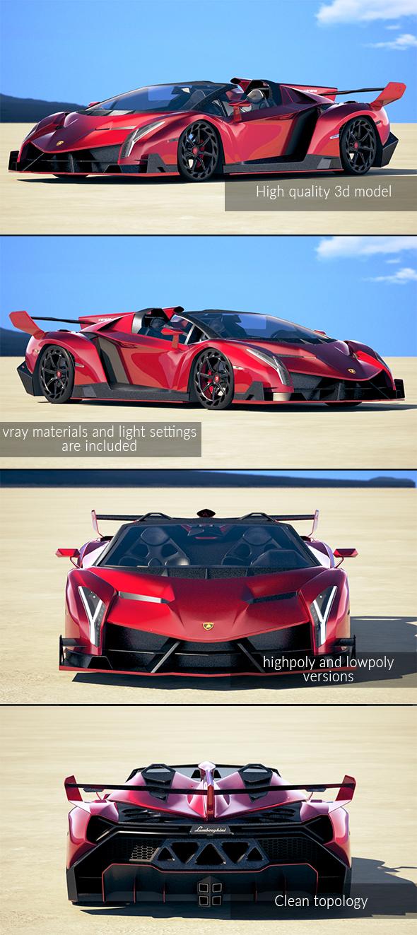 3DOcean Lamborghini Veneno Roadster 2014 20235920