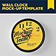Wall Clock Mockup Template - GraphicRiver Item for Sale