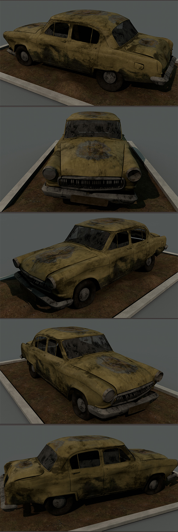Old Car ( Classic Car )) Full Textures 1080 - 3DOcean Item for Sale