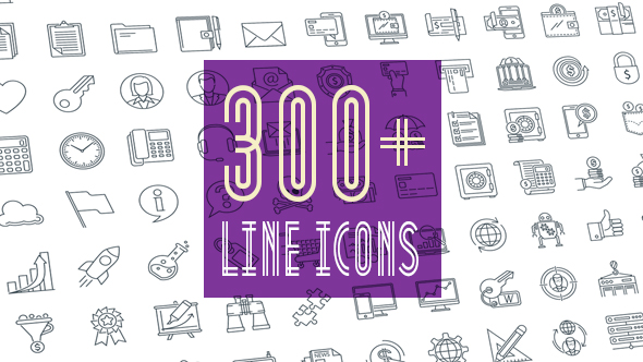 Line Icons Pack 300 Animated Line Icons