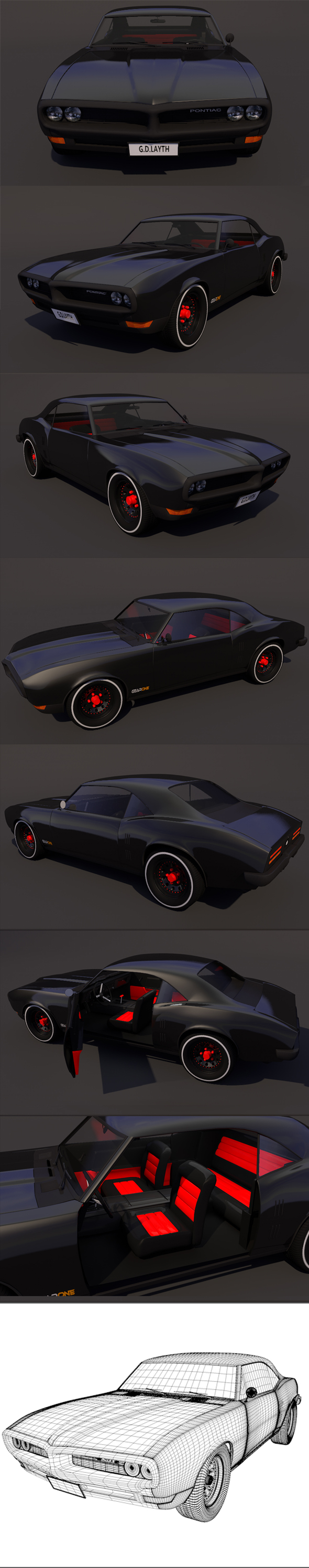 pontiac firebird v2 Full Textures 1080 - 3DOcean Item for Sale