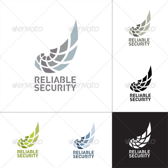 Reliable Security Logo Template - Vector Abstract