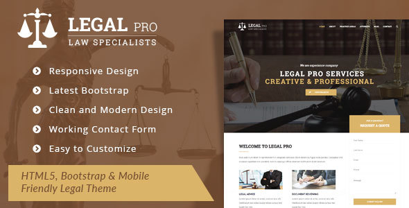 ThemeForest Legal Pro Law Legal Business WordPress Theme 20031027