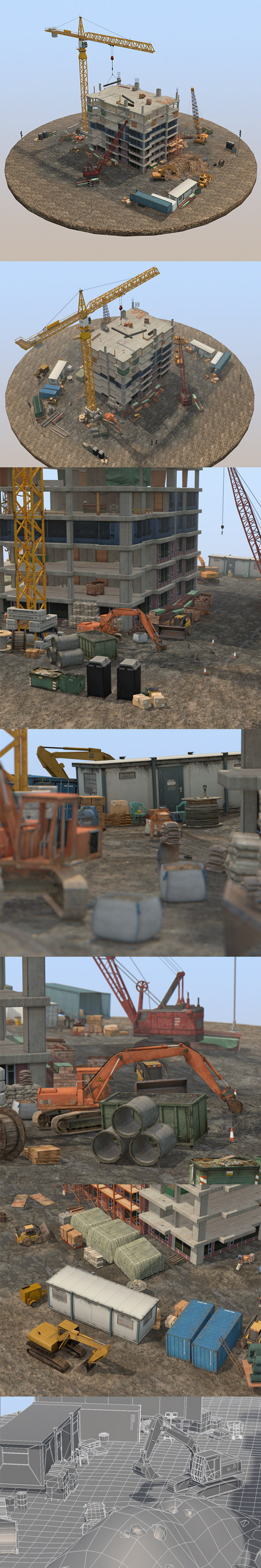 Under Construction Scene Pack - 3DOcean Item for Sale