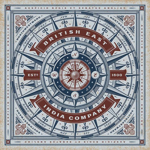 Vintage British East India Company Nautical Typography - Decorative Symbols Decorative