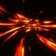 Futuristic Journey Through the Fire Tunnel