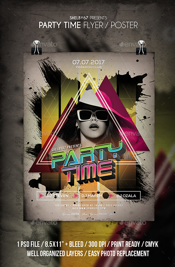 Party Time Flyer / Poster - Clubs & Parties Events