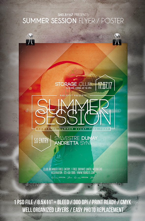 Summer Session Flyer / Poster - Events Flyers