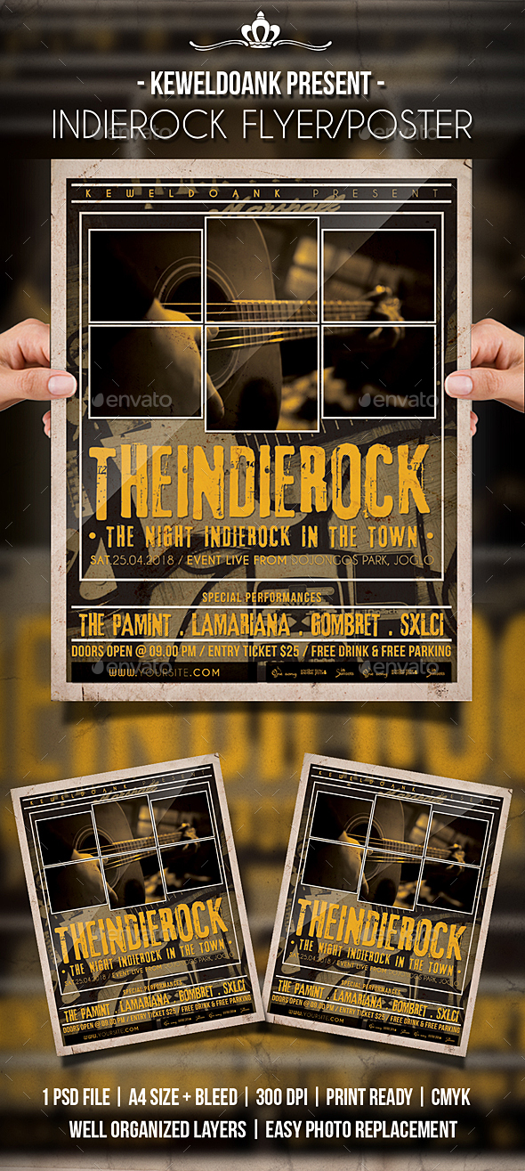 Inide Rock flyer / Poster - Events Flyers