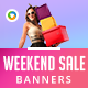 Weekend Sale Banners