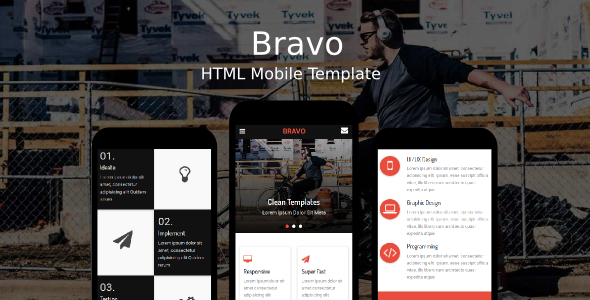 ThemeForest Bravo HTML Mobile Template 20237218