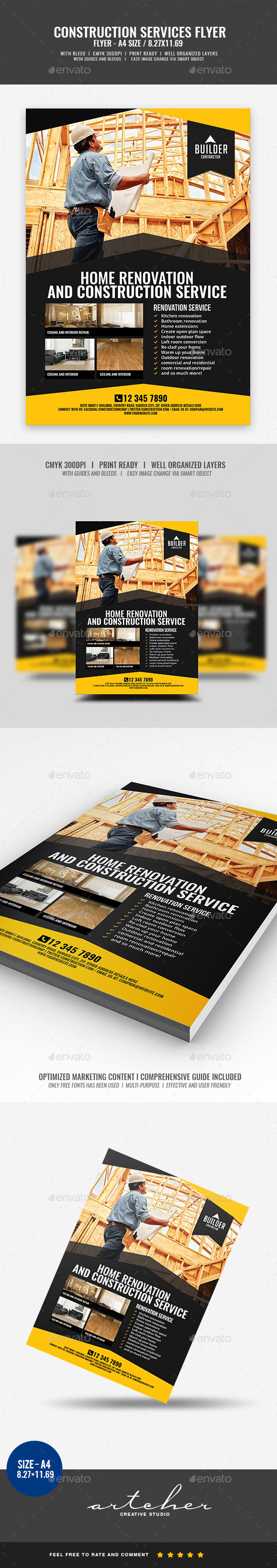 GraphicRiver Construction and Building Flyer v4 20237254