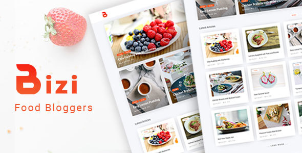 Download Bizi - A WordPress Theme for Food Bloggers