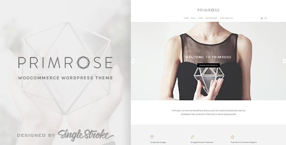 Primrose - A Minimal WooCommerce WordPress Theme for Creative eCommerce Websites - WooCommerce eCommerce