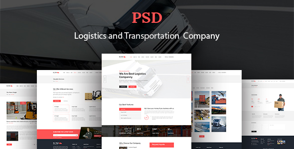 Go Fast-Transport & Logistics PSD Template - PSD Templates