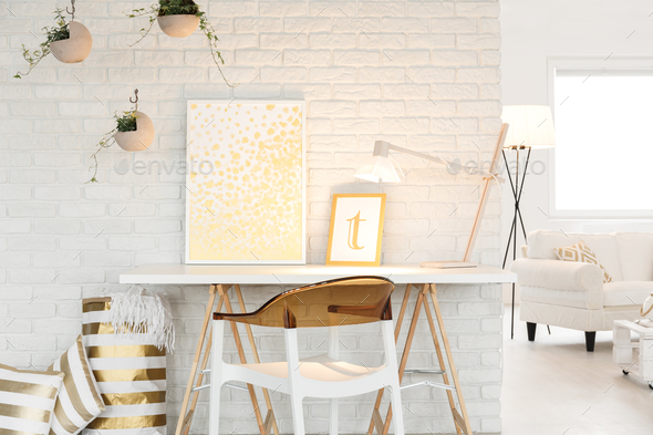 Atelier with living room space - Stock Photo - Images