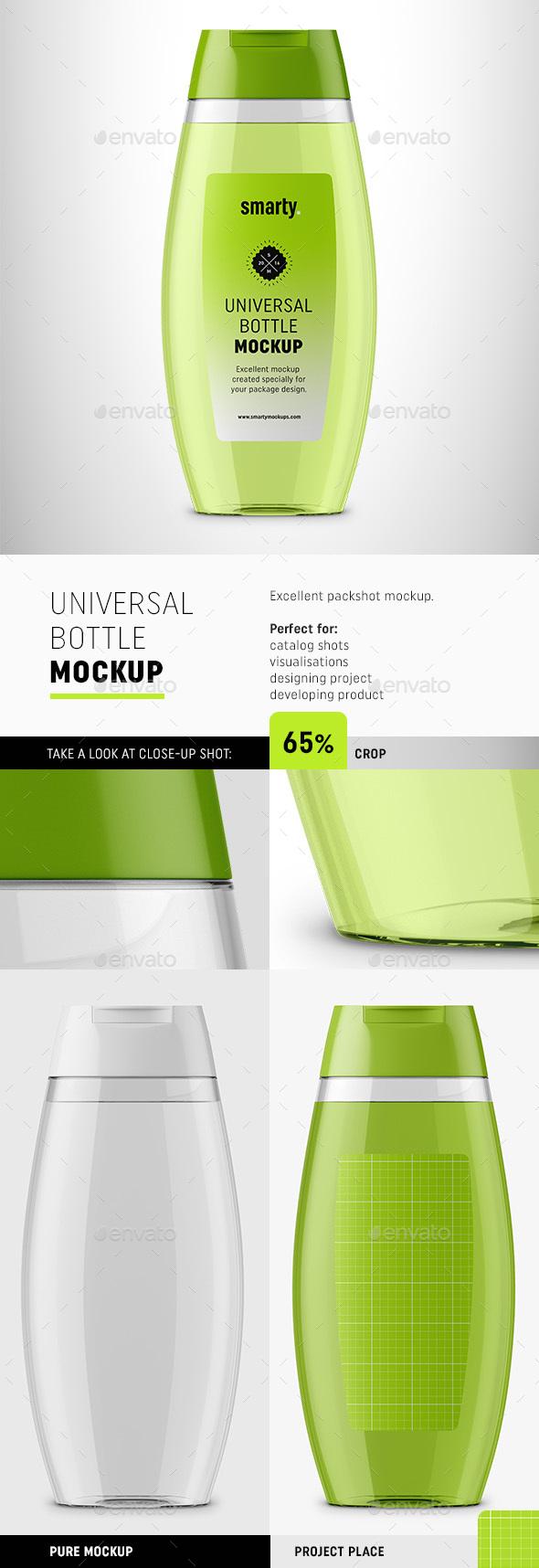 Transparent Bottle Mockup - Beauty Packaging