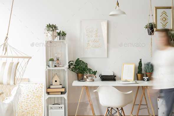 Nice and stylish home office - Stock Photo - Images