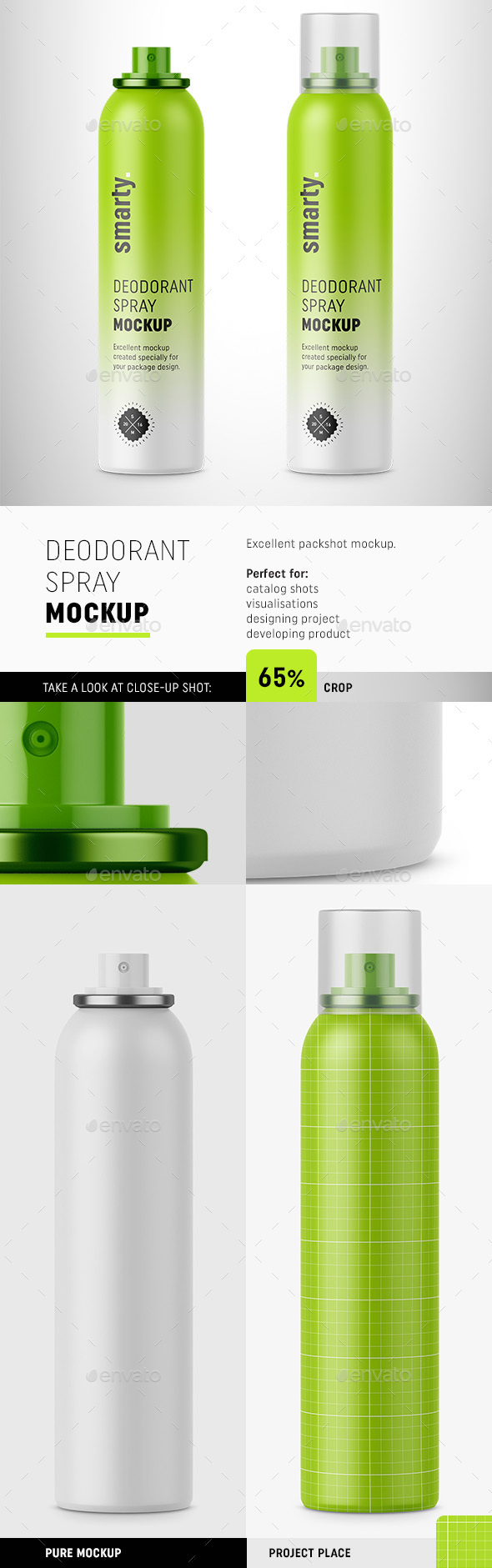 Deodorant Mockup / Aerosol - Beauty Packaging