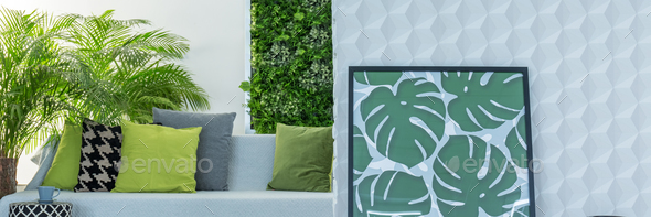 Botanic design of lounge - Stock Photo - Images