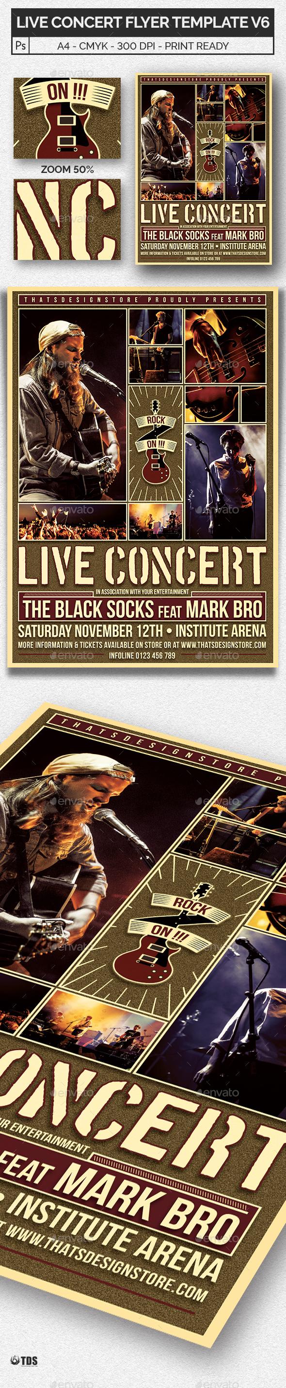 Live Concert Flyer Template V6 - Concerts Events