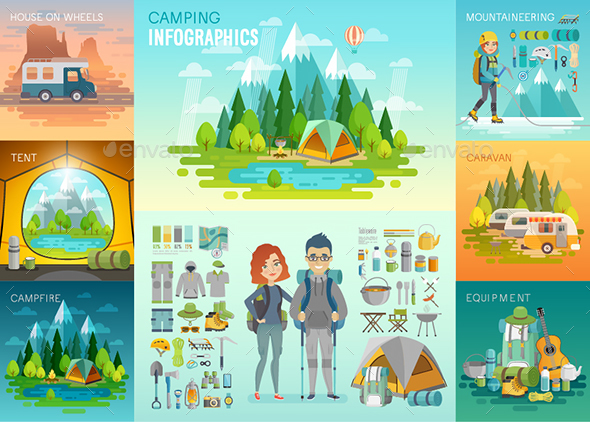 GraphicRiver Camping Infographic 20237884