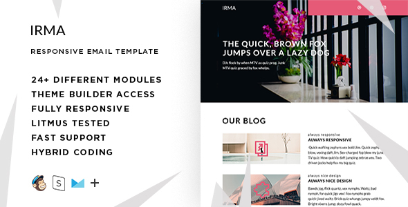 Irma – Responsive Email + StampReady Builder - Email Templates Marketing