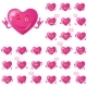 Valentine Hearts, Smileys, Set - GraphicRiver Item for Sale