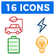Electric cars icons pack