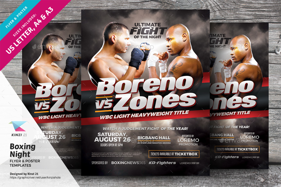 Ufc Flyer Template Fight Mma Ufc Night Flyer Template Psd On