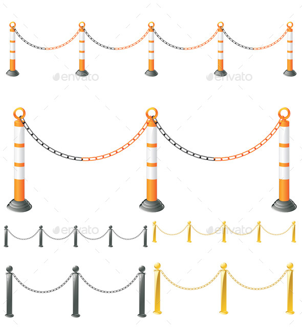 Metal Barrier Stand - Objects Vectors